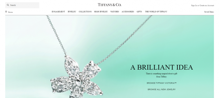 tiffany homepage