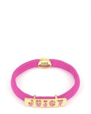 WJW67516 651 Ruzova elasticka gumicka JUICY COUTURE v ruzovom zlatom prevedeni
