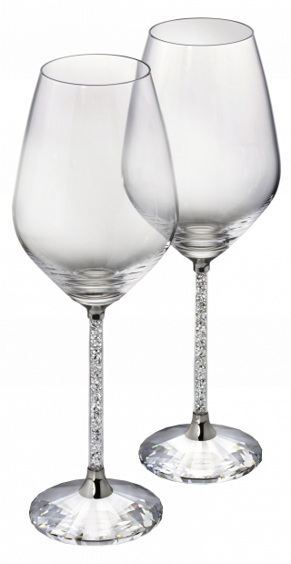 1095947 PNG SWAROVSKI CRYSTALLINE WHITE WINE GLASSES SET 2