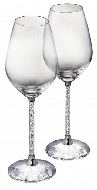 1095948 SWAROVSKI CRYSTALLINE RED WINE GLASSES SET OF 2