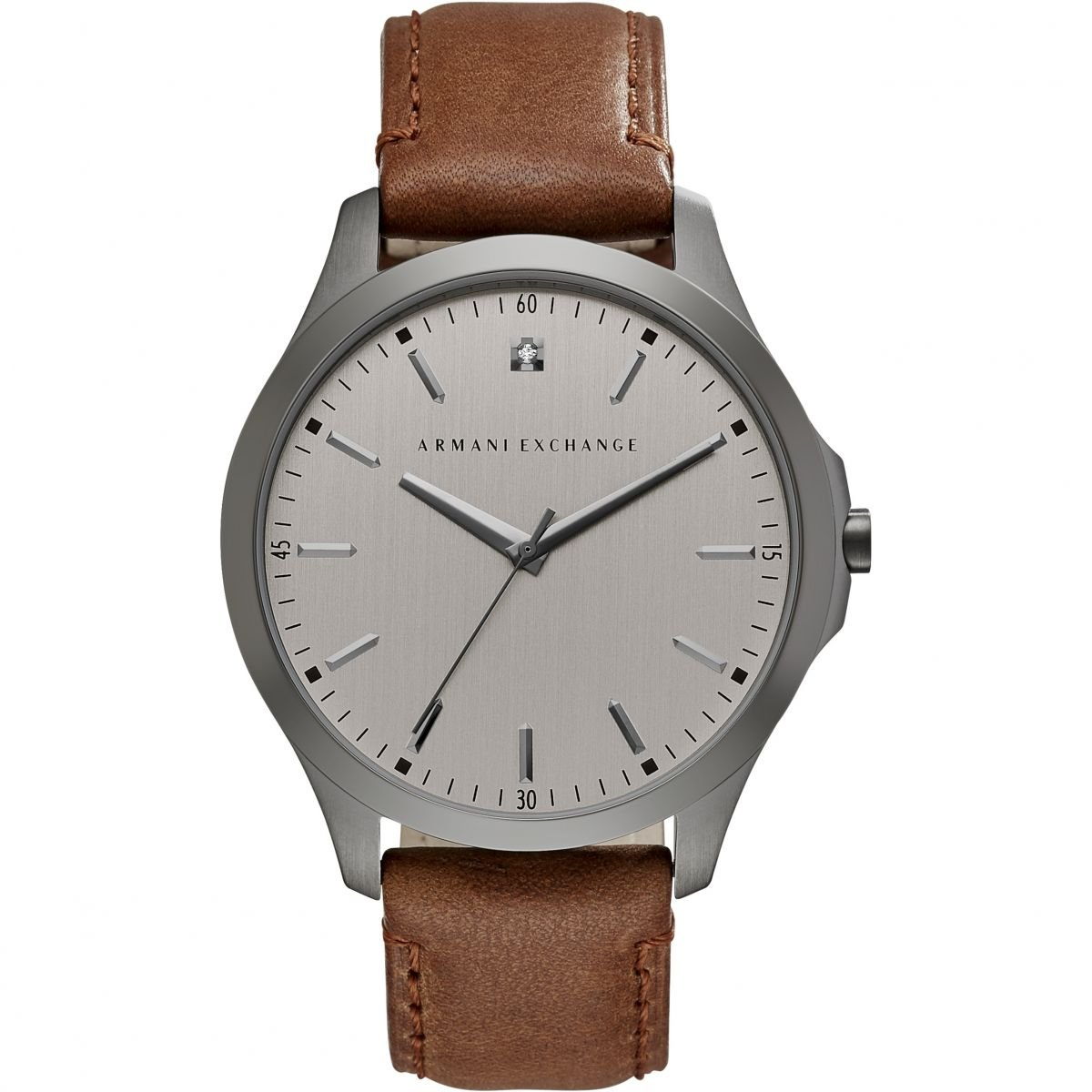 Hodinky ARMANI EXCHANGE Grey Dial Brown Leather Men's Watch