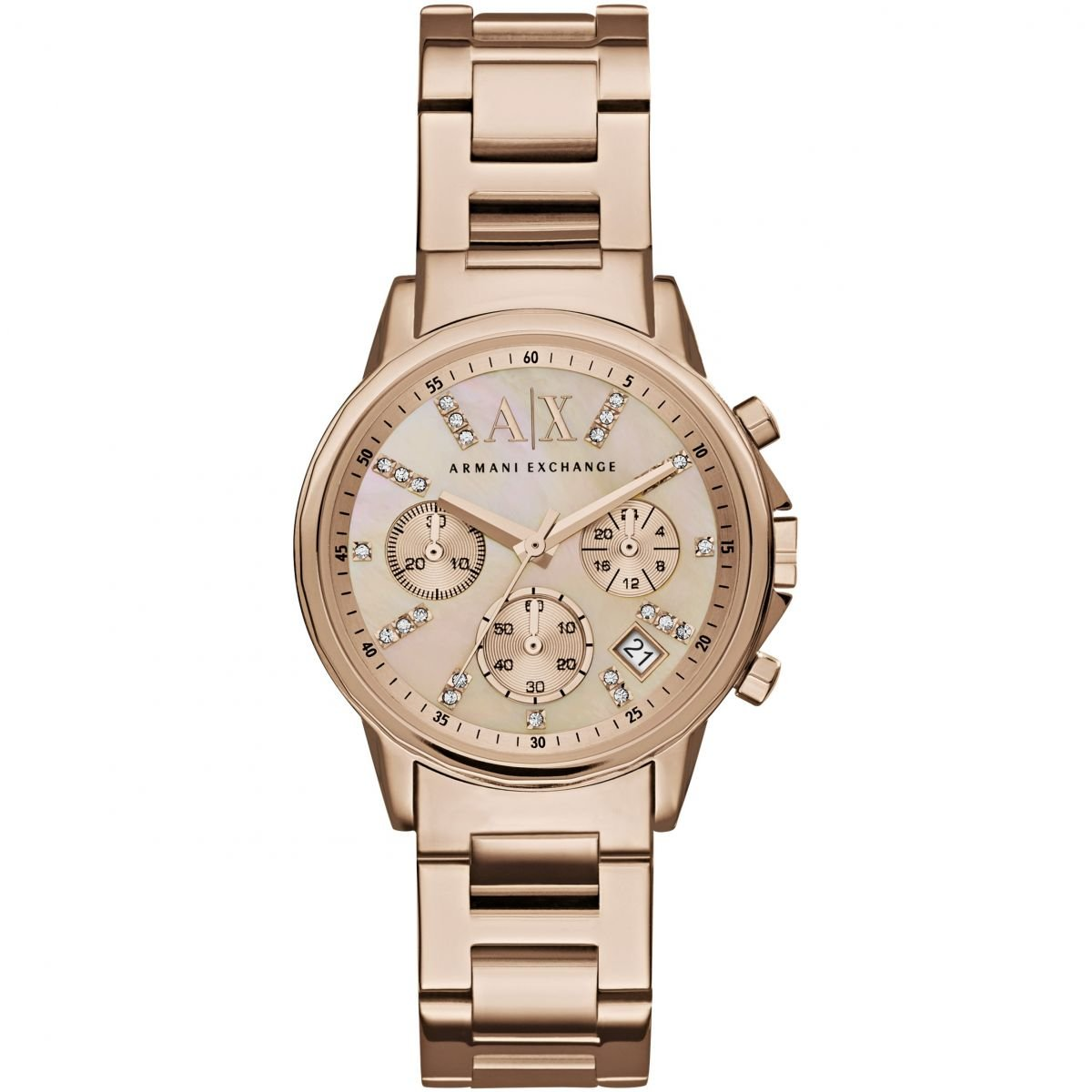 Hodinky ARMANI EXCHANGE Chronograph Rose Mother of Pearl Dial Ladies Watch