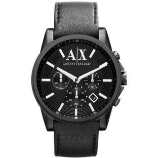 AX2098 Hodinky AX Banks Black Dial Black Mens Watch