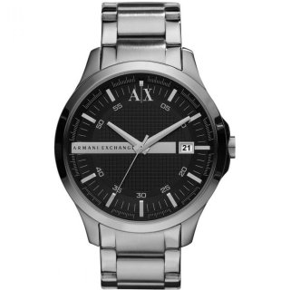 AX2103 Hodinky AX Black Dial Stainless Steel Mens Watch