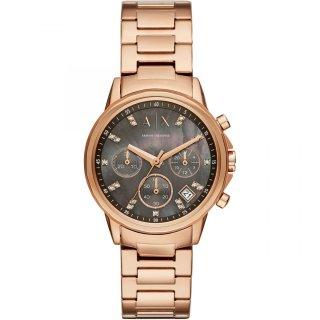 AX4354 Hodinky AX Rose Tone Bracelet Watch