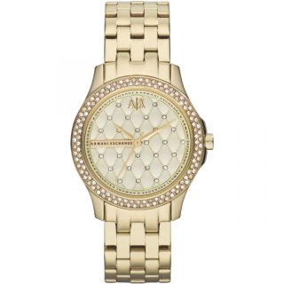 AX5216 Hodinky AX Lady Hamilton Gold Quilted Dial Ladies Watch