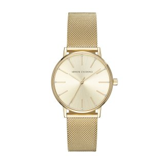 AX5536 Hodinky AX Gold Plated Mesh Strap Watch
