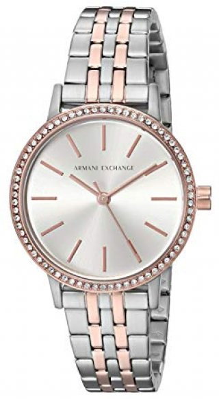 AX5542 Hodinky AX Two Tone Stone Set Bracelet Watch