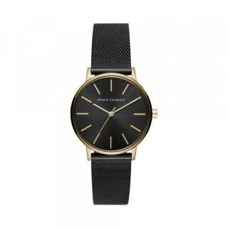 AX5548 Hodinky AX Leather Watch In Black