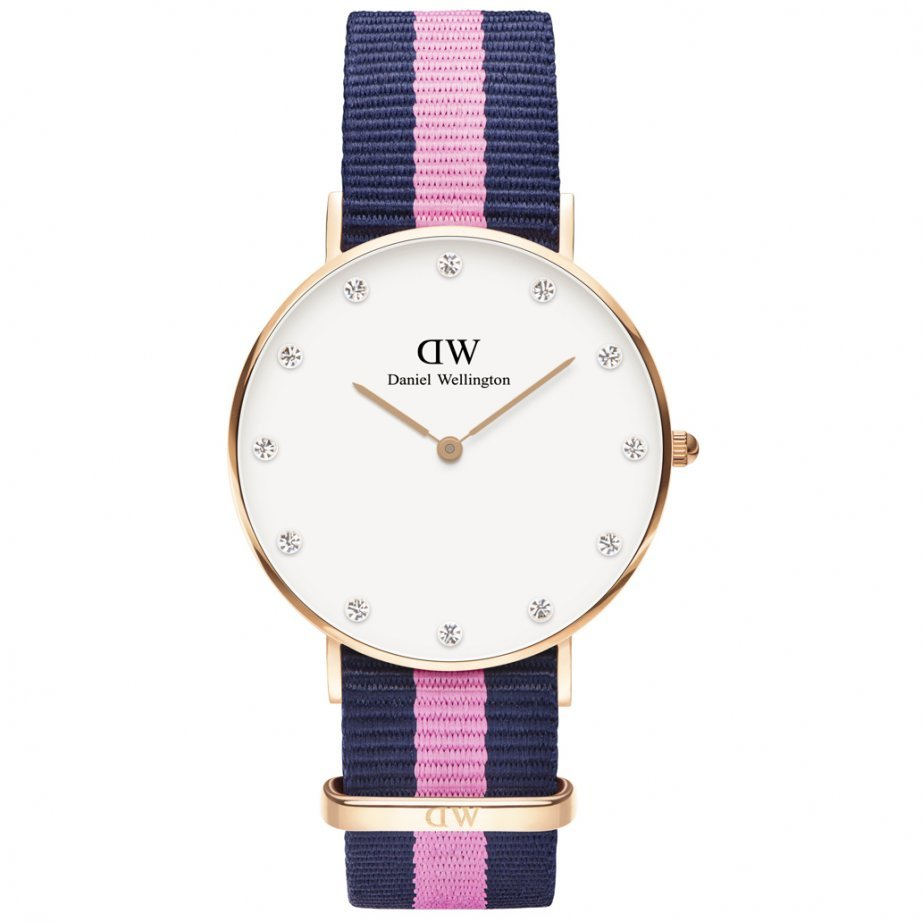 Hodinky DANIEL WELLINGTON Classy Winchester Rose Gold 34mm