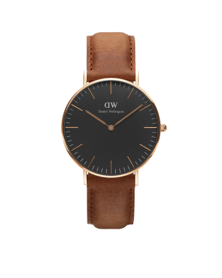 Hodinky DANIEL WELLINGTON Classi Durham Black Rose Gold 36mm