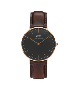 Hodinky DANIEL WELLINGTON Classic Black Bristol Rose Gold 36mm