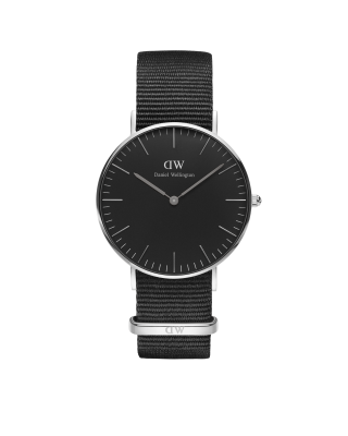 Hodinky DANIEL WELLINGTON Classic Black Cornwall Silver 40mm