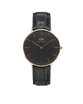 Hodinky DANIEL WELLINGTON Classic Black Reading Rose Gold 36mm