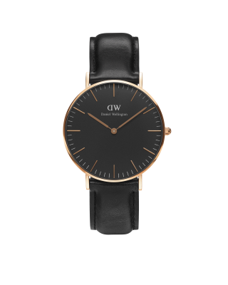 Hodinky DANIEL WELLINGTON Classic Black Sheffield Roe Gold 40mm