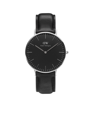 Hodinky DANIEL WELLINGTON Classic Black Sheffield Silver 40mm