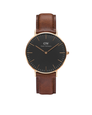 Hodinky DANIEL WELLINGTON Classic Black St Mawes Rose Gold 36mm