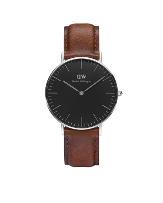 Hodinky DANIEL WELLINGTON Classic Black St Mawes Silver 36mm