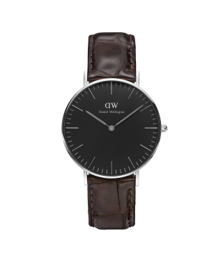 Hodinky DANIEL WELLINGTON Classic Black York Silver 40mm