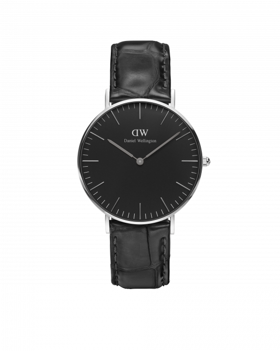 Hodinky DANIEL WELLINGTON Classic Black Reading Silver 40mm