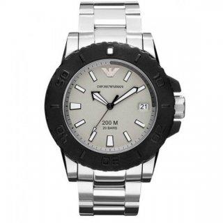 Strieborno cierne hodinky EMPORIO ARMANI AR5970