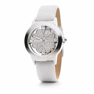 WF0T057SSZ WH Strieborno biele hodinky FOLLI FOLLIE so srdieckovym motivom