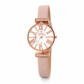 WF15B028SSW PI Hodinky FOLLI FOLLIE Mini Dynastry Rose Gold Plated Leather Watch