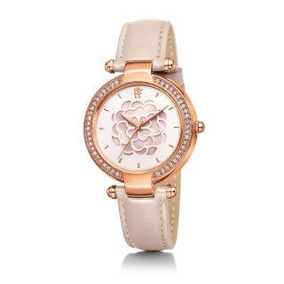 WF15B037SPP PI Ruzove hodinky FOLLI FOLLIE s kvetom Santorini