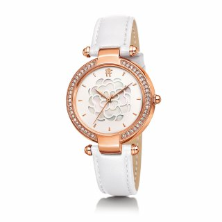 WF15B037SPW WH Bielo ruzove hodinky FOLLI FOLLIE s kvetom Santorini