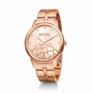 WF15R036BSG XX Ruzove hodinky FOLLI FOLLIE s kvetom Santorini