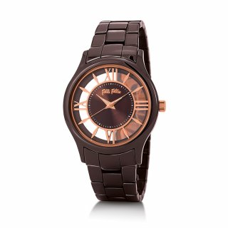 WF16F046BPB XX Hodinky FOLLI FOLLIE Time Illusion Big Case Ceramic Watch