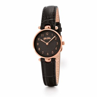 WF17R014SSK BK Hodinky FOLLI FOLLIE Lady Club Small Case Leather Watch