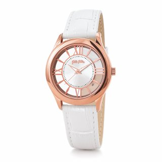 WF18R009SPS WH Hodinky FOLLI FOLLIE Time Illusion Medium Case Leather Watch