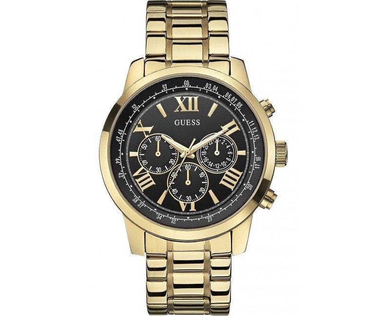 Pánske zlaté hodinky GUESS W0379G4  a1acebad193