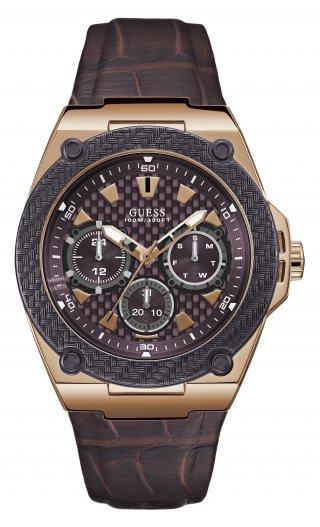 W1058G2 Panske hodinky GUESS v hnedom prevedeni