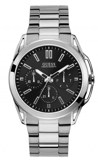 W1176G2 Panske hodinky GUESS s ciernym cifernikom