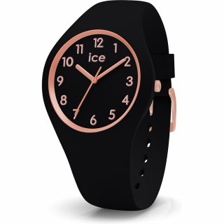 014760 Hodinky ICE WATCH ICE GLAM ROSE GOLD BLACK SMALL