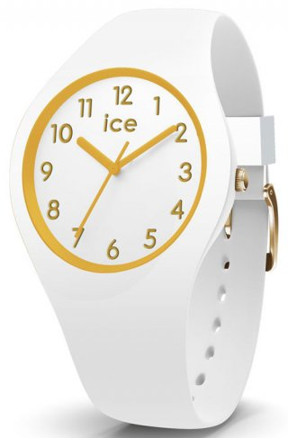 015339 Hodinky ICE WATCH ICE GLAM GOLD WHITE MEDIUM