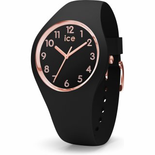 015340 Hodinky ICE WATCH ICE GLAM ROSE GOLD BLACK MEDIUM