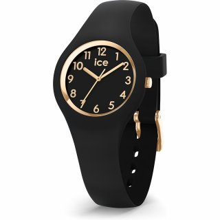 015342 Hodinky ICE WATCH ICE GLAM GOLD BLACK EXTRA SMALL