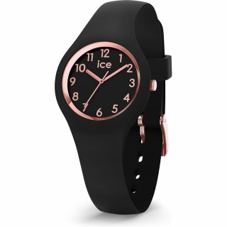 015344 Hodinky ICE WATCH ICE GLAM ROSE GOLD BLACK EXTRA SMALL