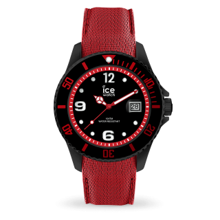 015782 Hodinky ICE WACTH ICE STEEL BLACK RED LARGE