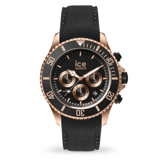 016305 Hodinky ICE WATCH ICE STEEL BLACK ROSE GOLD LARGE