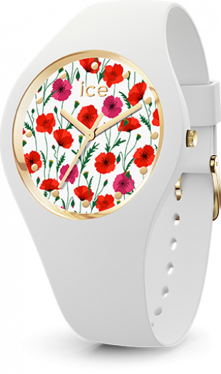 016657 Hodinky ICE WATCH ICE FLOWER WHITE POPPY SMALL