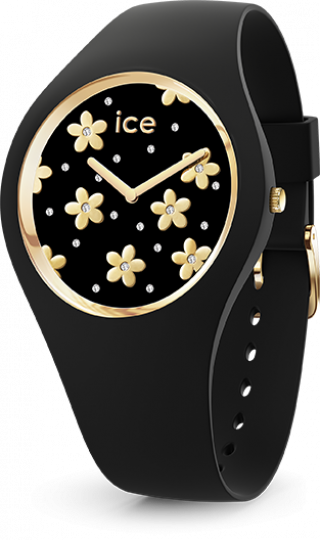 016659 Hodinky ICE WATCH ICE FLOWER PRECIOUS BLACK SMALL