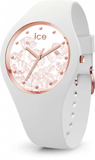 016662 Hodinky ICE WATCH ICE FLOWER SPRING WHITE SMALL