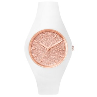 ICE WATCH ICE GLITTER WHITE ROSE GOLD SMALL ICE.GT.WRG.S.S.15