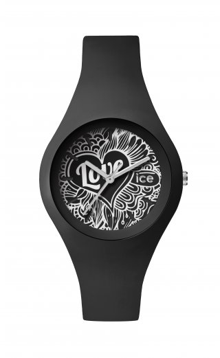 ICE WATCH ICE LOVE BLACK DOODLE LO.BK.DO.S.S.16