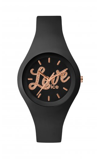 ICE WATCH ICE LOVE BLACK GLITTER LO.BK.GL.S.S.16