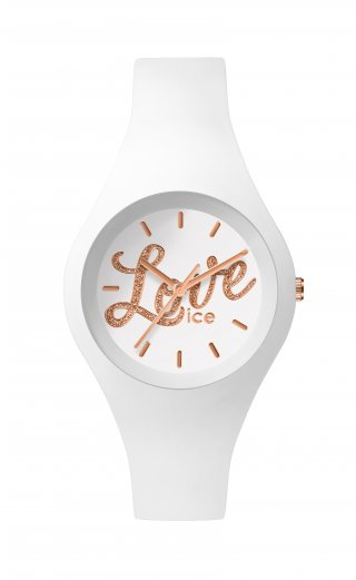 ICE WATCH ICE LOVE WHITE GLITTER LO.WE.GL.S.S.16